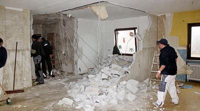 Rušenja zida štemanja demontaza