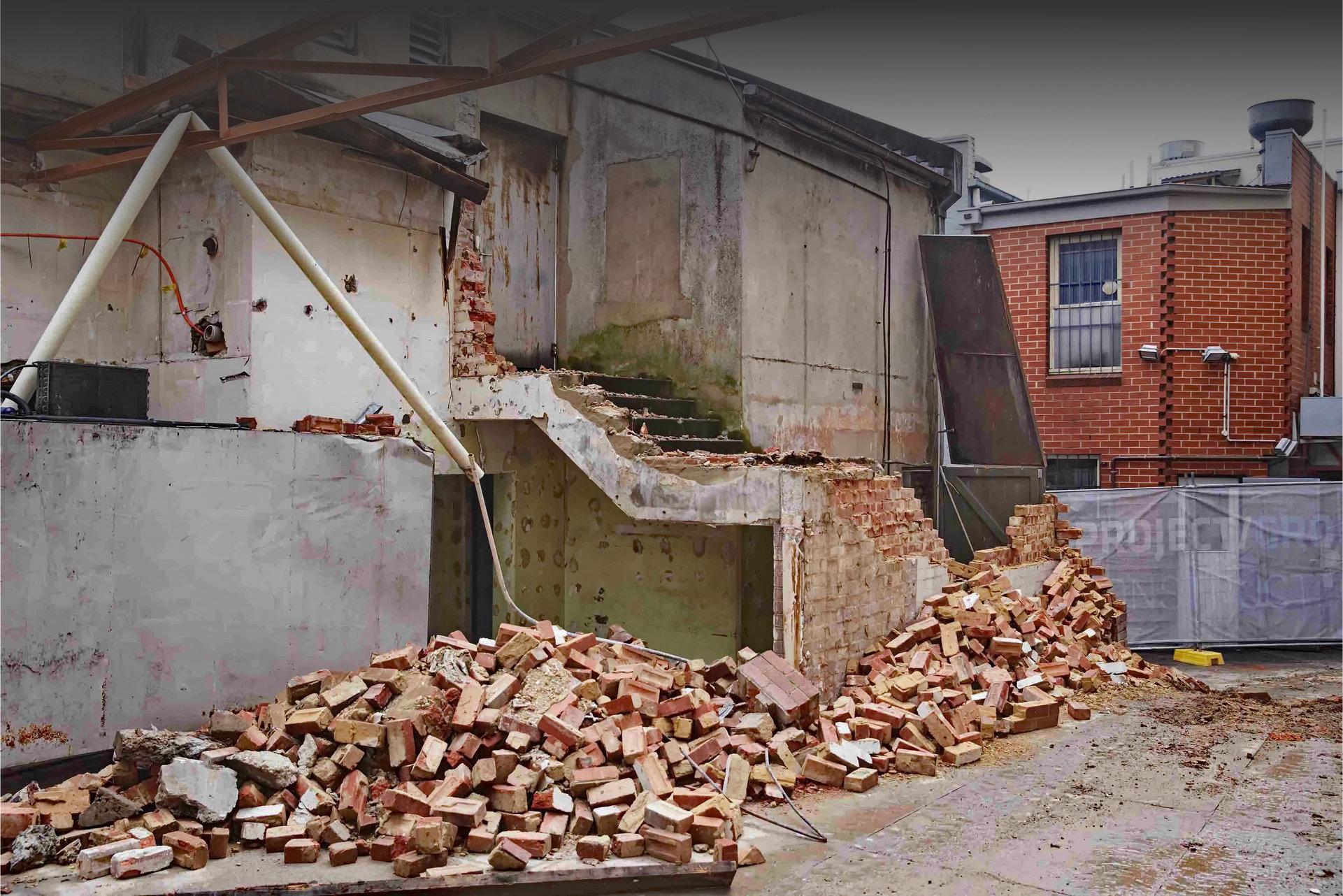 Rušenje zidova i odvoz šuta
